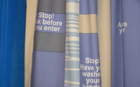 Stop Curtain Label Antimicrobial Fabrics